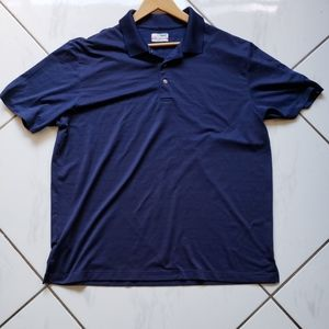 Grand slam blue polo gold airflow vented shirt